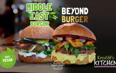 100% vegan | MIDDLE EAST & BEYOND burger by Kristóf's Kitchen